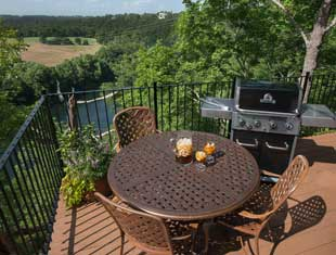 Patio with grill and view
